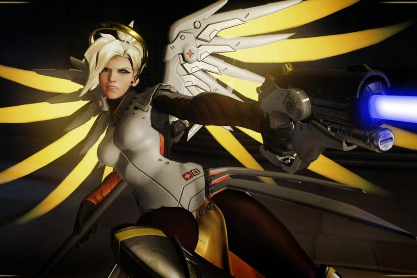 widescreen mercy overwatch wallpaper 1920x1080 picture