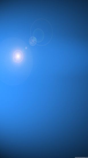 Blue Sky Sun Lens Flare iPhone 6 Plus HD Wallpaper ...