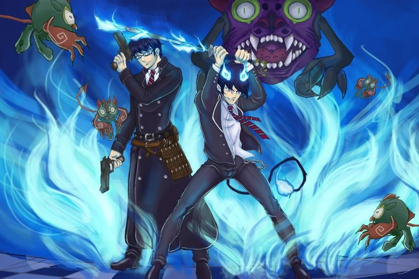 blue exorcist wallpaper 2000x1226 ipad pro