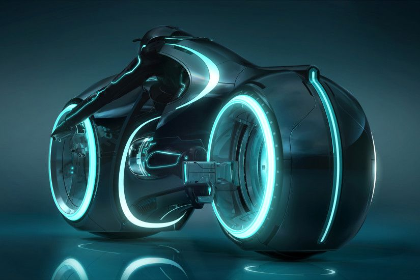 a light cycle from Disney's Tron Legacy movie wallpaper