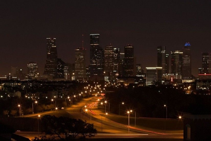 Galerry Houston Skyline At Night wallpaper