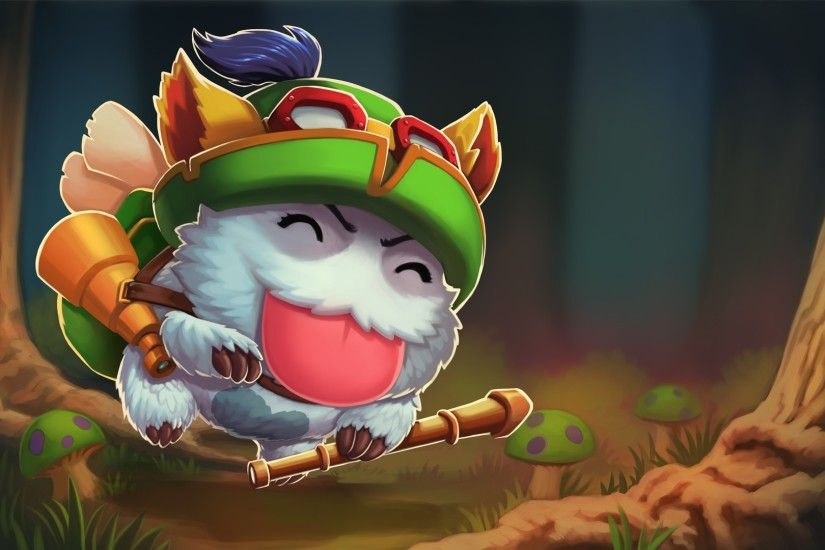 Wallpaper League of legends, Poro, Teemo