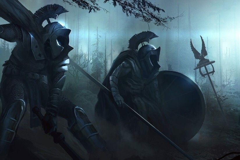 medieval skull army | Alpha Coders | Wallpaper Abyss Fantasy Knight 213619