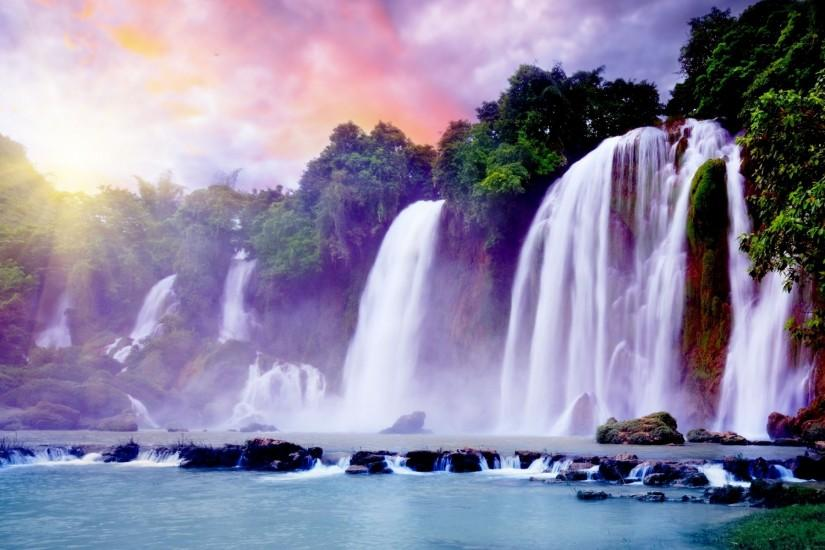 popular waterfall background 1920x1200