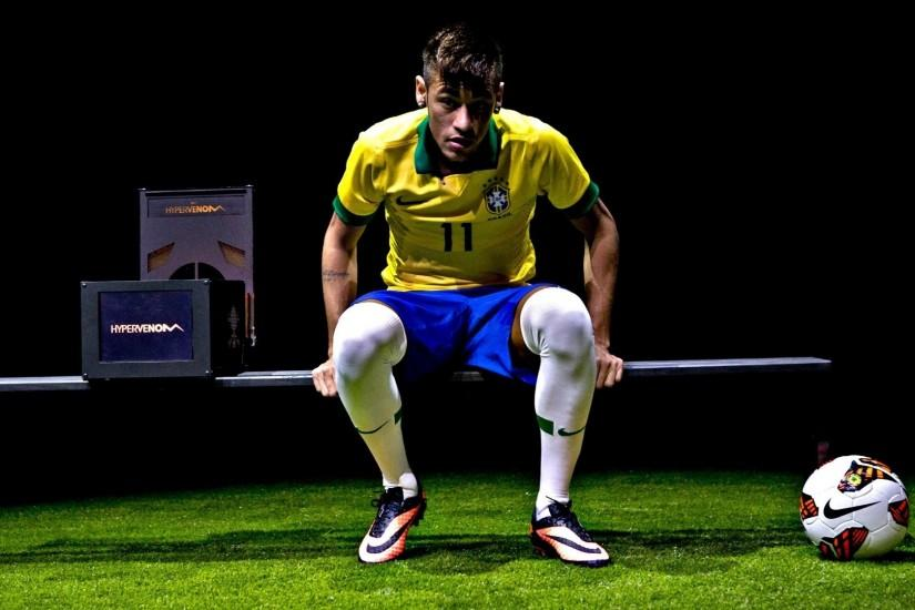 Neymar nike hypervenom hd brazil kit wallpaper.