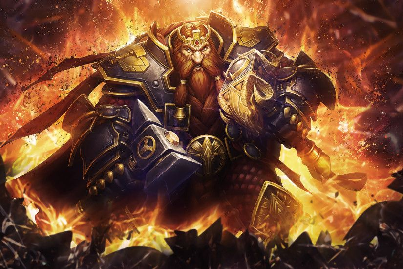 Video Game - Hearthstone: Heroes of Warcraft Video Game Magni Bronzebeard  Wallpaper