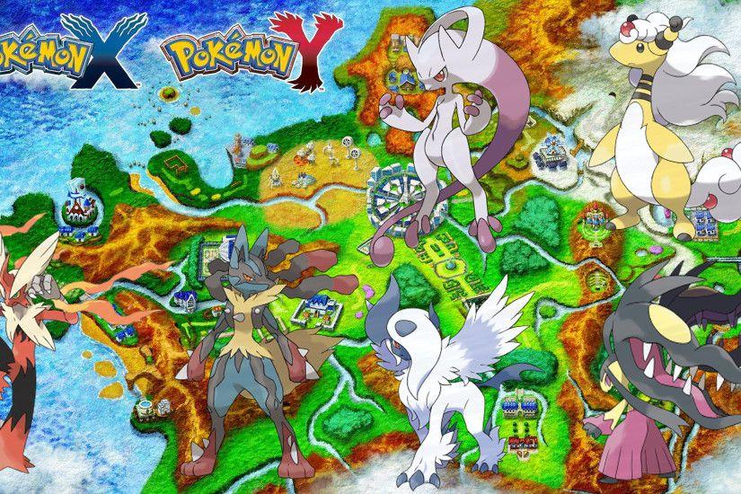 All legendary pokemon wallpaper pokemon x and y mega evolutions wallpaper gen 6 hd by jammyjet voltagebd Choice Image