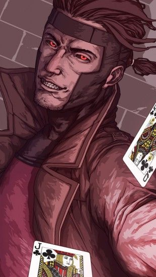 1440x2560 Wallpaper x-men, gambit, marvel comics, art, mutant
