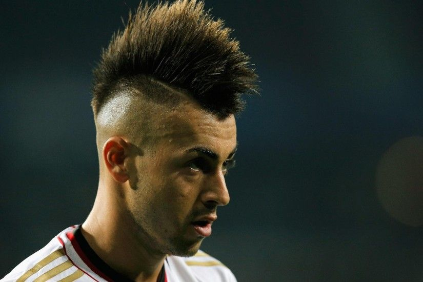 EINDHOVEN, NETHERLANDS - AUGUST 20: Stephan El Shaarawy of AC Milan looks  on during
