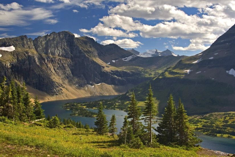 Download Background - Hidden Lake Vista, Glacier National Park, Montana -  Free Cool Backgrounds and Wallpapers for your Desktop Or Laptop.