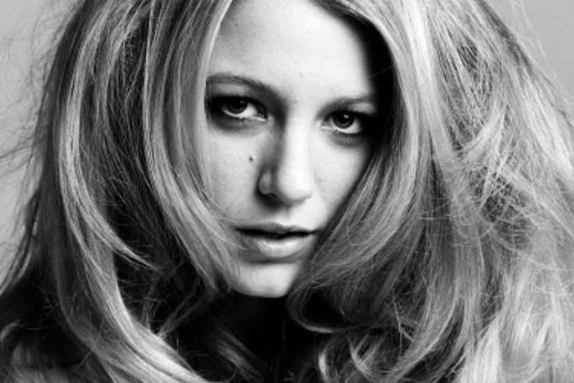 Blake Lively Black&White Close-up wallpapers and stock photos