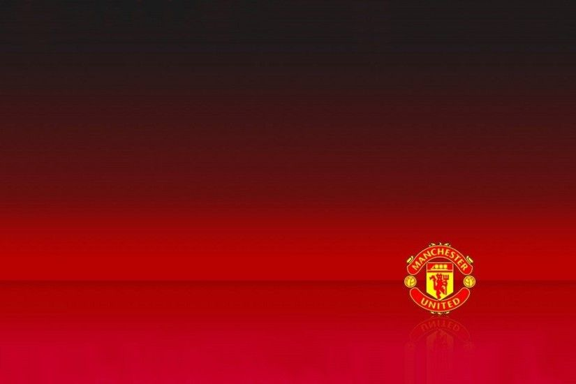 logo manchester united wallpaper simple