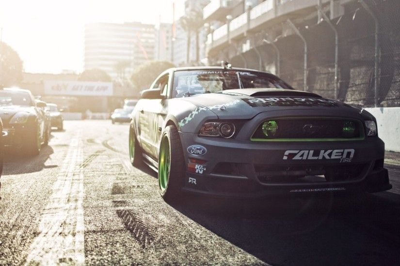 Formula D Ford Mustang Gittin Falken Monster Energy drift muscle race  racing wallpaper background