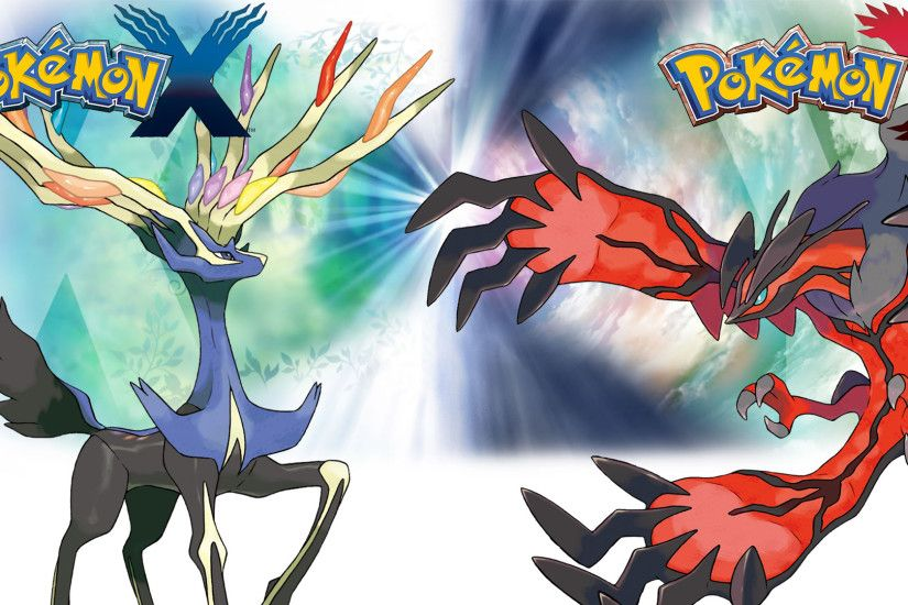 Pokemon X Y - Wallpaper - Xerneas and Yveltal by .