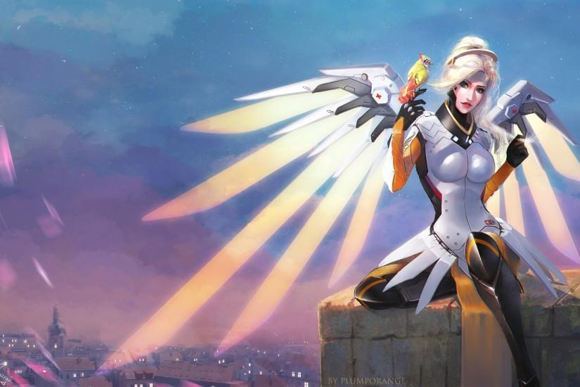 mercy overwatch wallpaper 3000x1886 for lockscreen