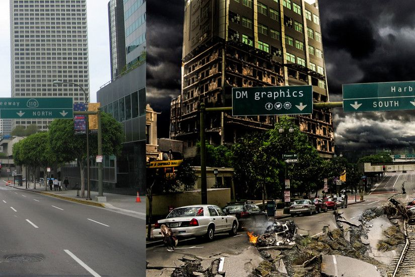 ... Destroyed City(before-after) by DoubleMpics