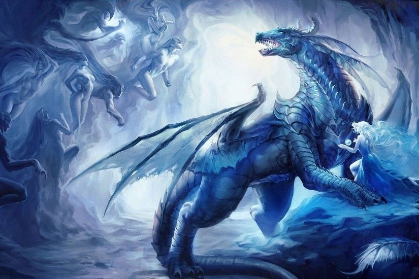 Blue Dragon vs Humans 3D [1920x1080] Need #iPhone #6S #Plus #Wallpaper/  #Background for #IPhone6SPlus? Follow iPhone 6S Plus 3Wallpapers/ #Backgrou…