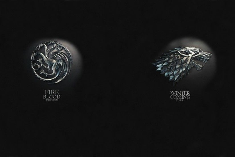To anyone like me who loves both House Stark and House Targaryen equally,  here's both of them mixed into one wallpaper ...