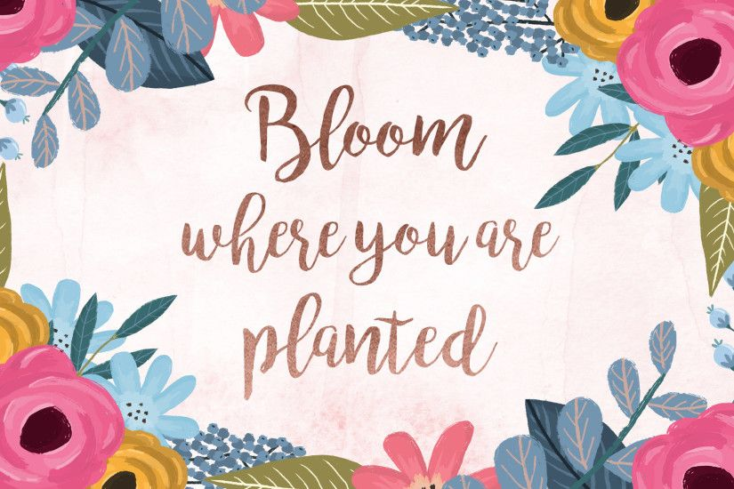 Bloom Where You Are Planted desktop wallpaper
