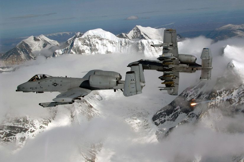 A-10 Thunderbolt II Aircraft Military United States Air Force