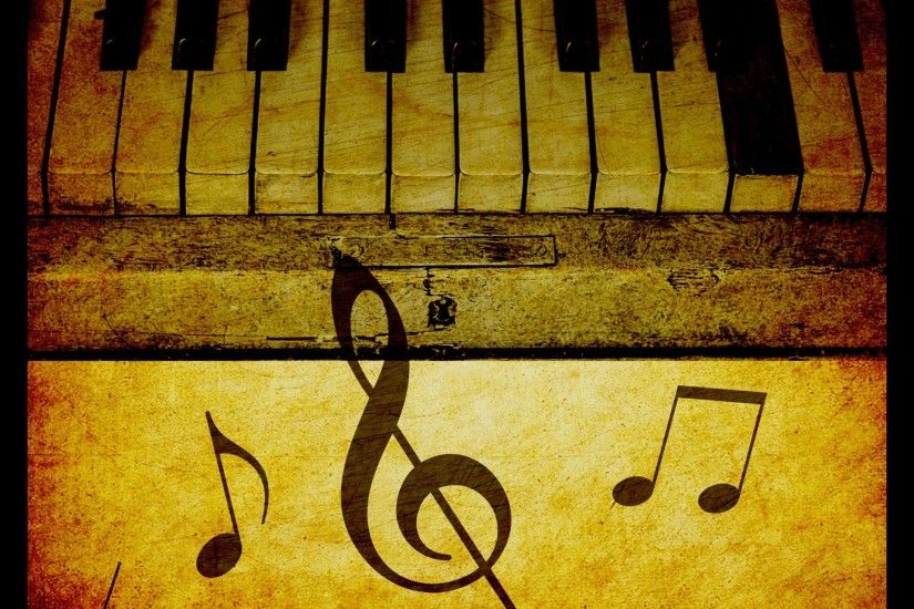 Piano Keys Vintage Background