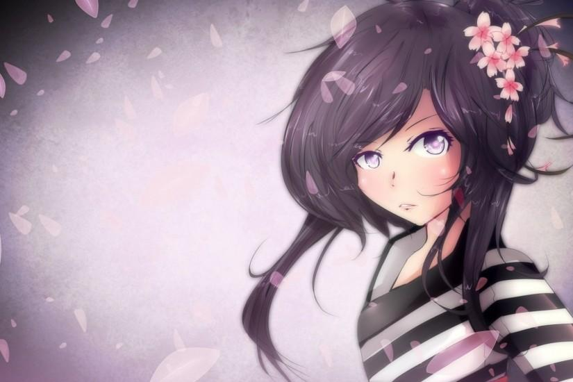 Download Purple Anime Girl Wallpaper in 1920x1080 Resolution