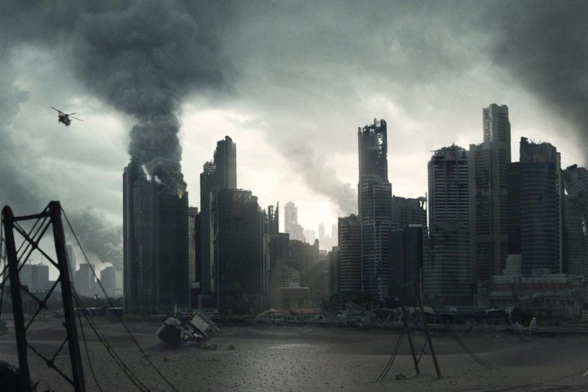 destroyed · skyscrapers · vehicles · cities