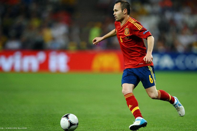 andres iniesta football player hd widescreen wallpaper