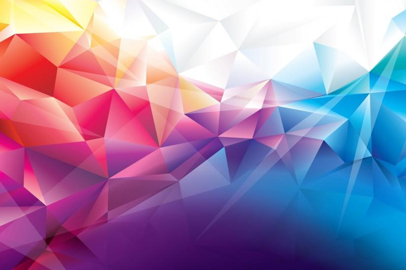 Colorful Polygons Abstract Background