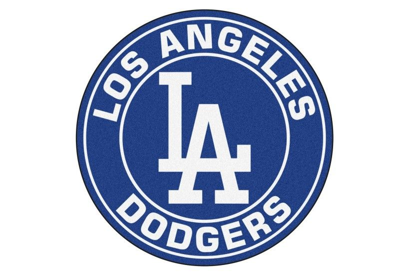 Illustrate off your team pride with this elegant FANMATS MLB Los Angeles  Dodgers Navy Round Accent Rug.