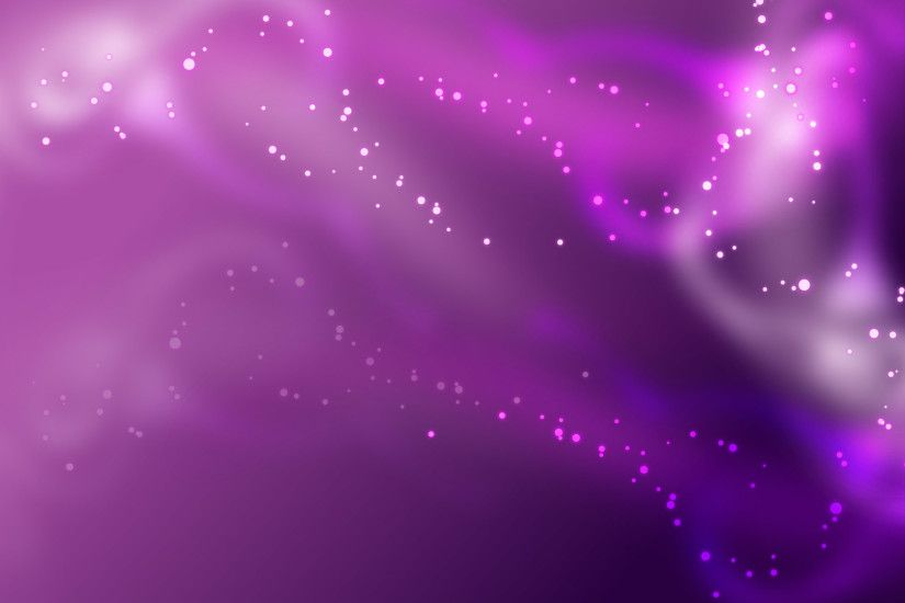 Purple background with stars and flowers PPT Backgrounds