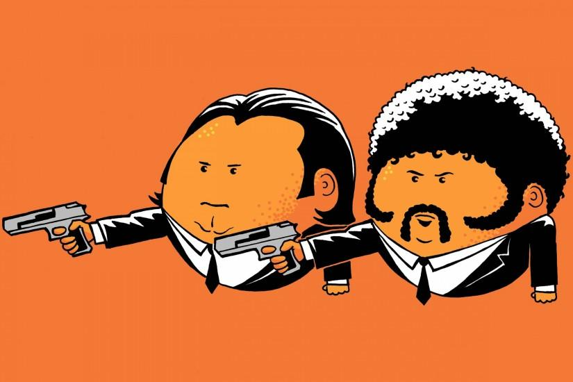 Preview wallpaper pulp fiction, john travolta, vincent vega, samuel l  jackson, jules