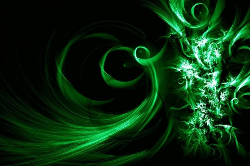 Green Abstract Wallpaper Full HD