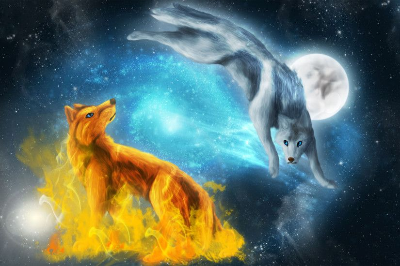 ... fire and ice wolf wallpaper 66 images ...