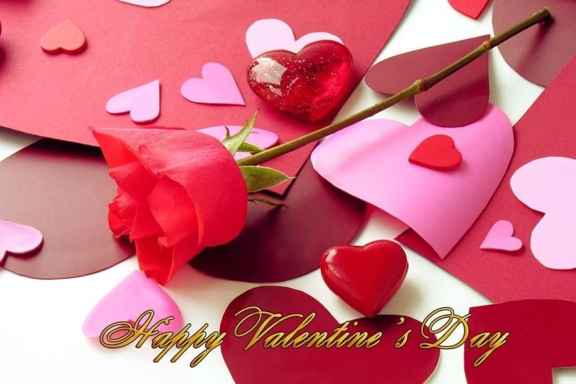 Happy Valentines Day Flower HD Wallpaper