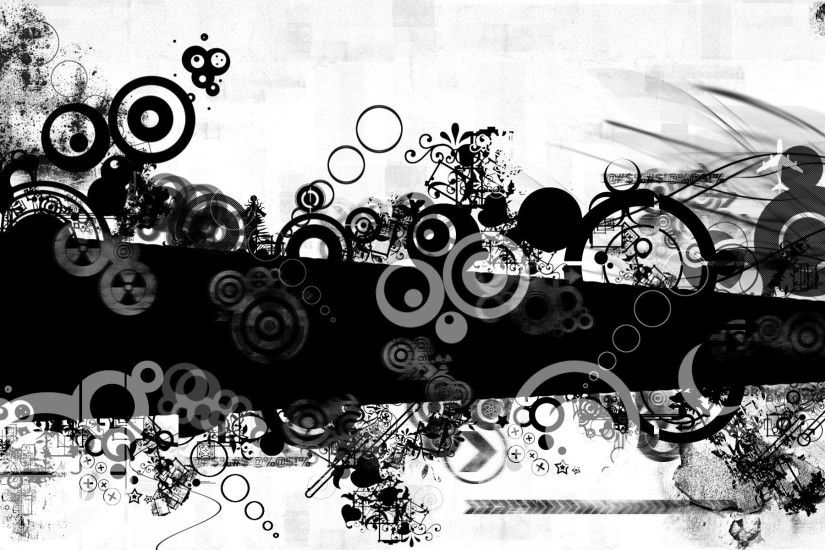 Black and white abstract wallpaper 06