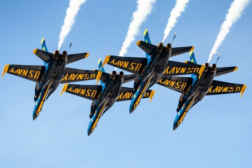 ... 4K HD Wallpaper Blue Angels The famous airplanes squadron in this photo