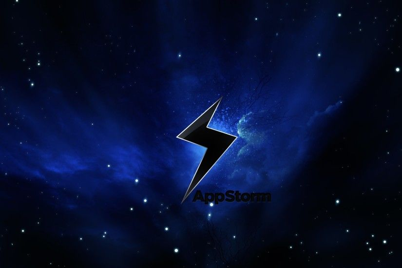 3840x2160 Wallpaper app storm, apple, mac, space, stars, sky, black