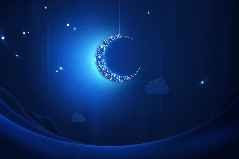 Crescent Moon and Star Wallpaper