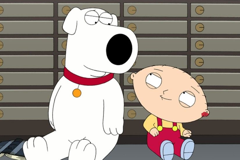 Seth MacFarlane voices several characters on Family Guy, including Brian  (left) and Stewie (right) Griffin.