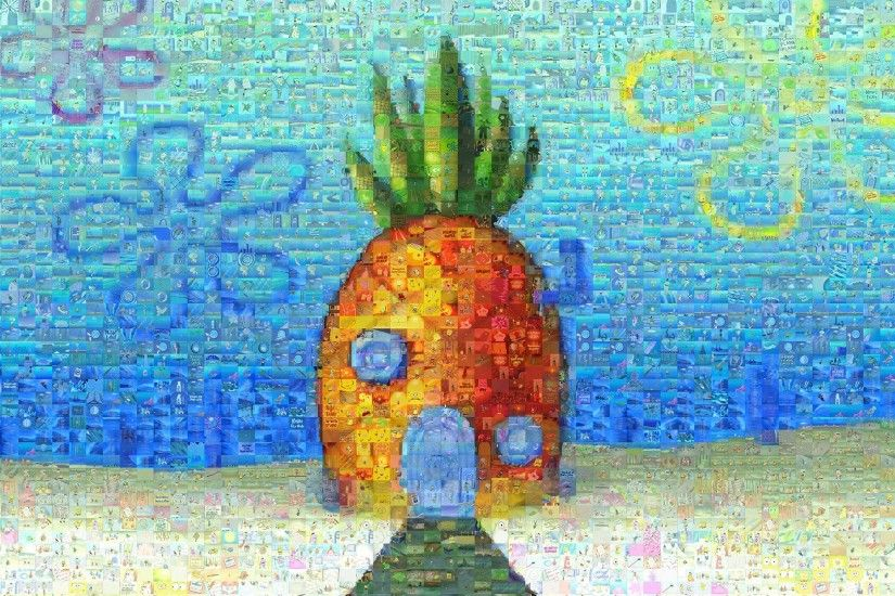 SpongeBob SquarePants, Cartoon, Pineapple, Pineapples, Collage Wallpapers  HD / Desktop and Mobile Backgrounds