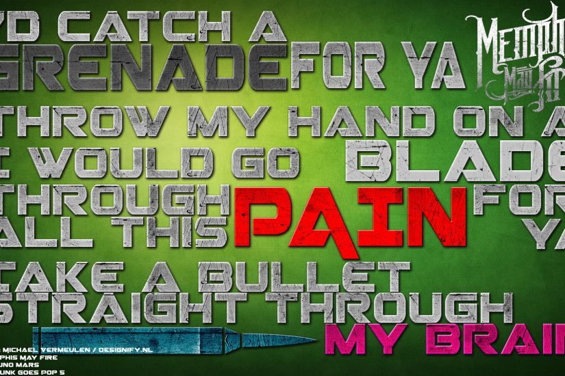 ... Bruno mars - Grenade wallpaper (memphis may fire) by DesignifydotNL