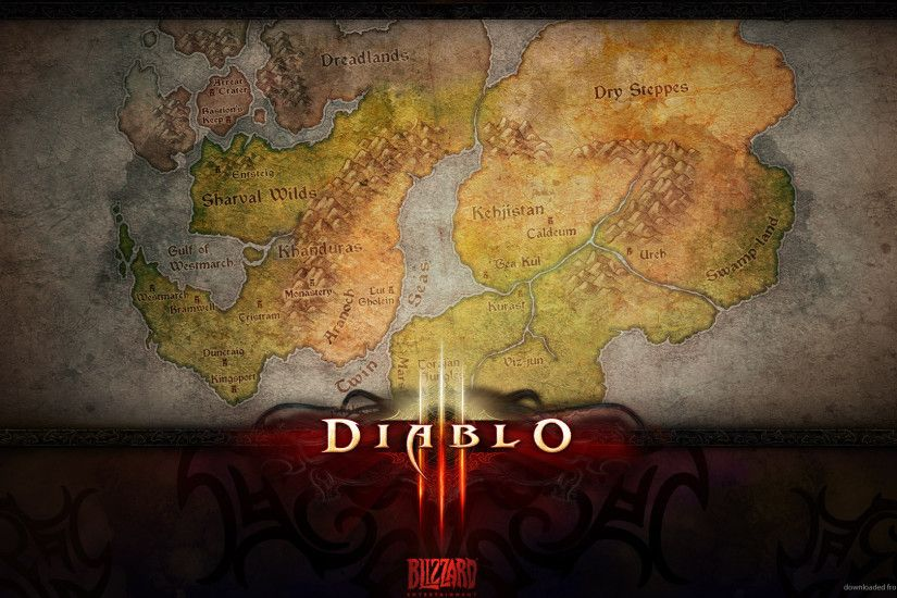 Diablo 3 world map for 1920x1080