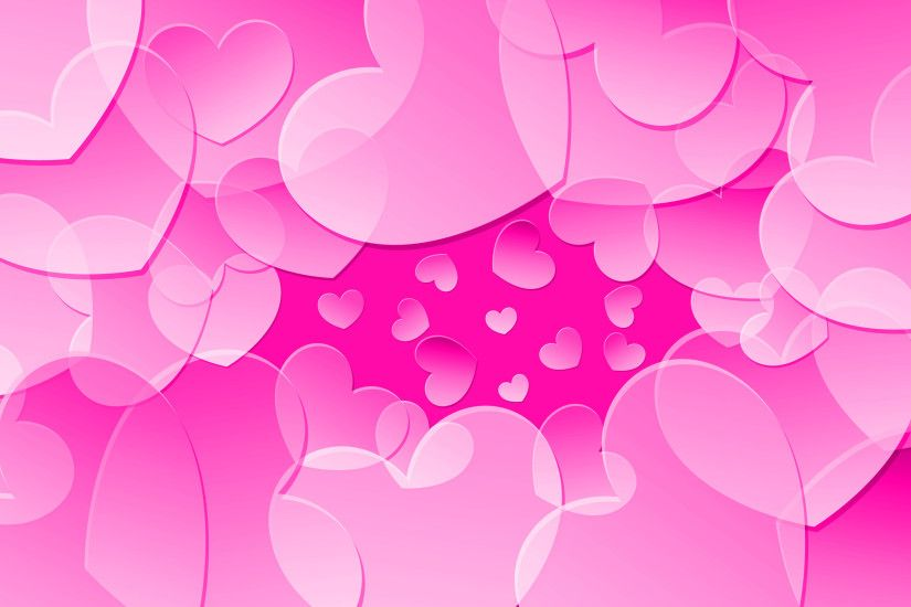 ... Pink hearts Wallpaper #9181 ...