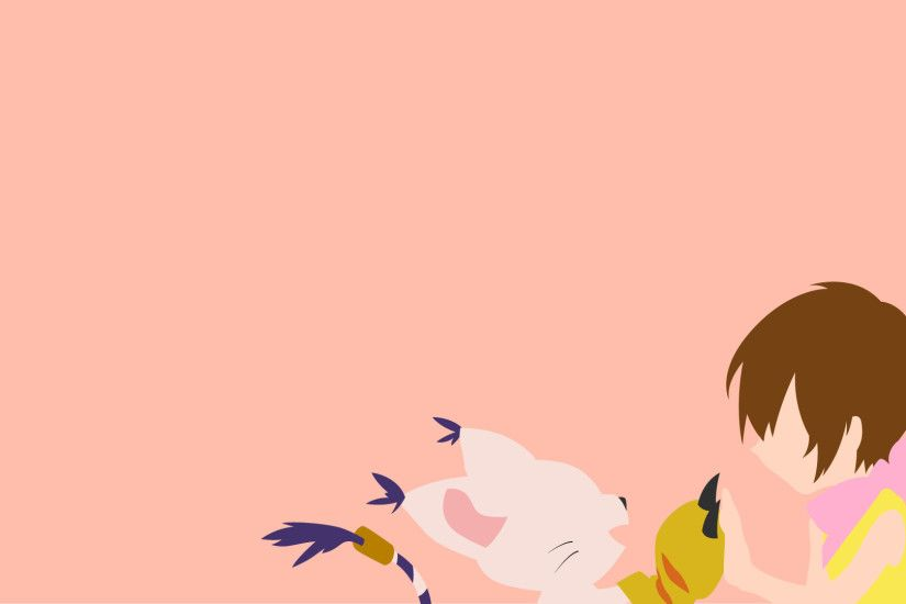 Anime - Digimon Minimalist Wallpaper
