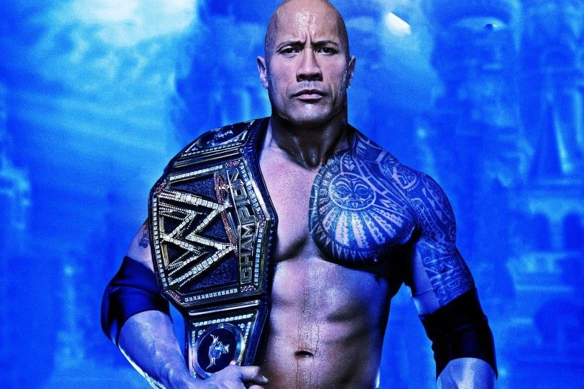 "Dwayne ""The Rock"" Johnson as WWE Champion 2560x1440 wallpaper"