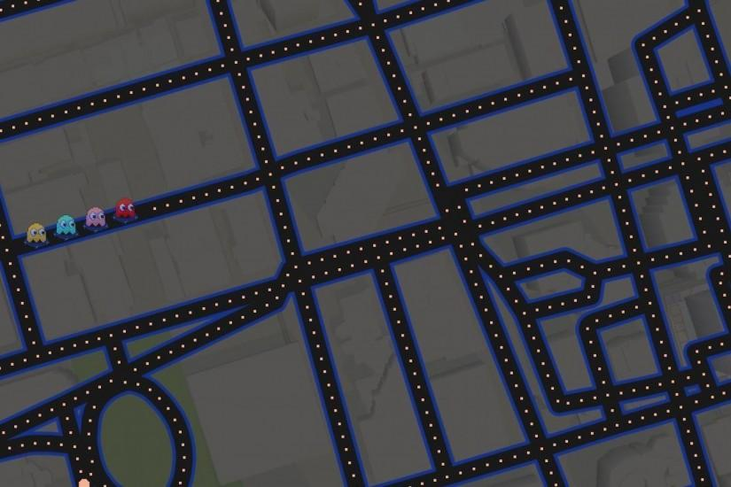 3840x2160 Wallpaper google maps, 2015, google maps pacman, googlemaps,  google maps pac