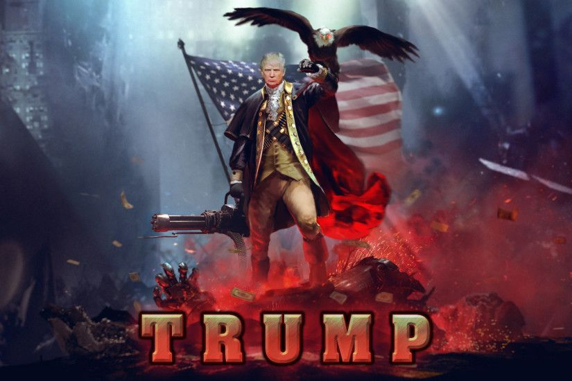 "10 Gaming Wallpapers that will Make you say ""Hey these aren't gaming  wallpapers these are Trump wallpapers... is that Hillary?? WTF?? That cat  though!"""