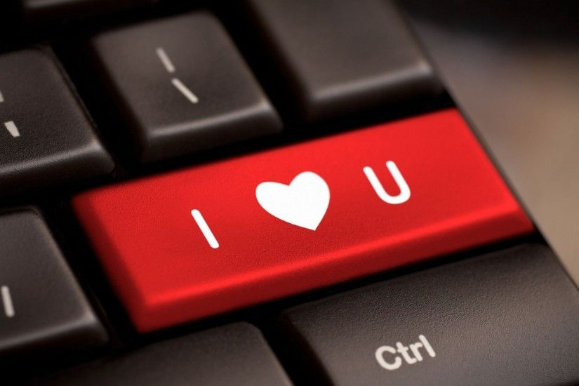 i love you widescreen full screen mood heart background love wallpaper  keyboard computer red