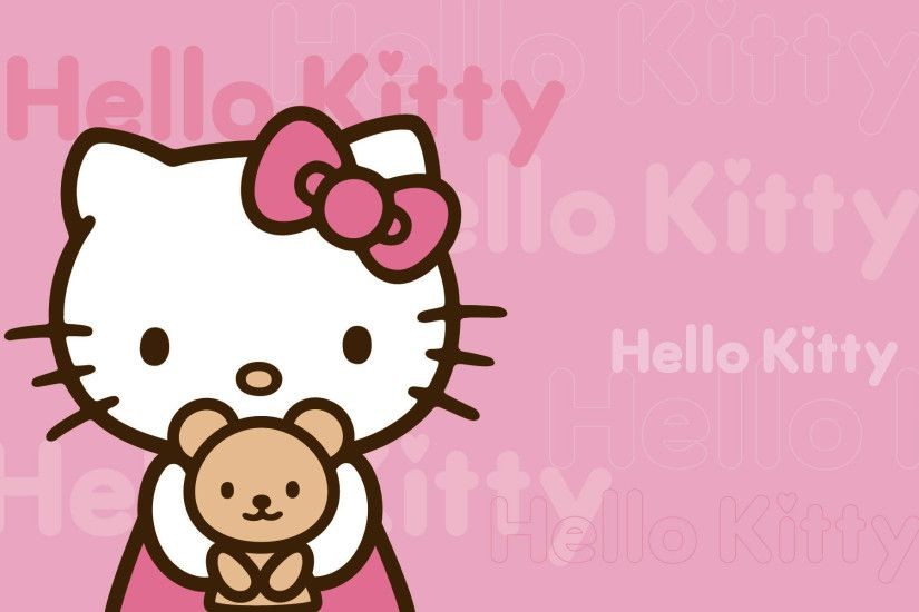 Hello Kitty pink background 1920×1200